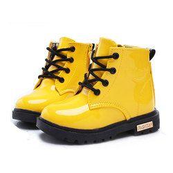 Детская обувь для девочек и мальчиков; высокие Детские кроссовки из искусственной кожи со шнуровкой; детская обувь для девочек; спортивная ...