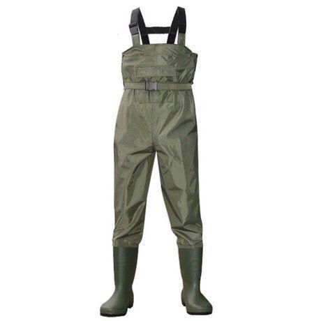 Outdoor atmungs brust tasche lange waten hosen camo wasserdicht PVC männer frauen angeln wader stiefel schuhe overallhose