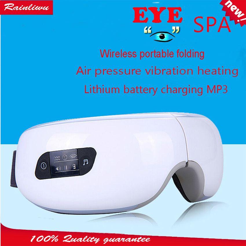 Eye massage SPA Instrument Électrique Air pression Yeux masseur Musique Charge Sans Fil Vibration Magnétique chauffage massage dispositif