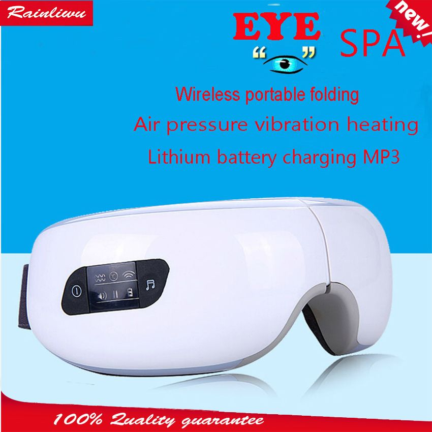 Eye massage SPA Instrument Electric Air pressure Eyes massager Music Charge <font><b>Wireless</b></font> Vibration Magnetic heating massage device