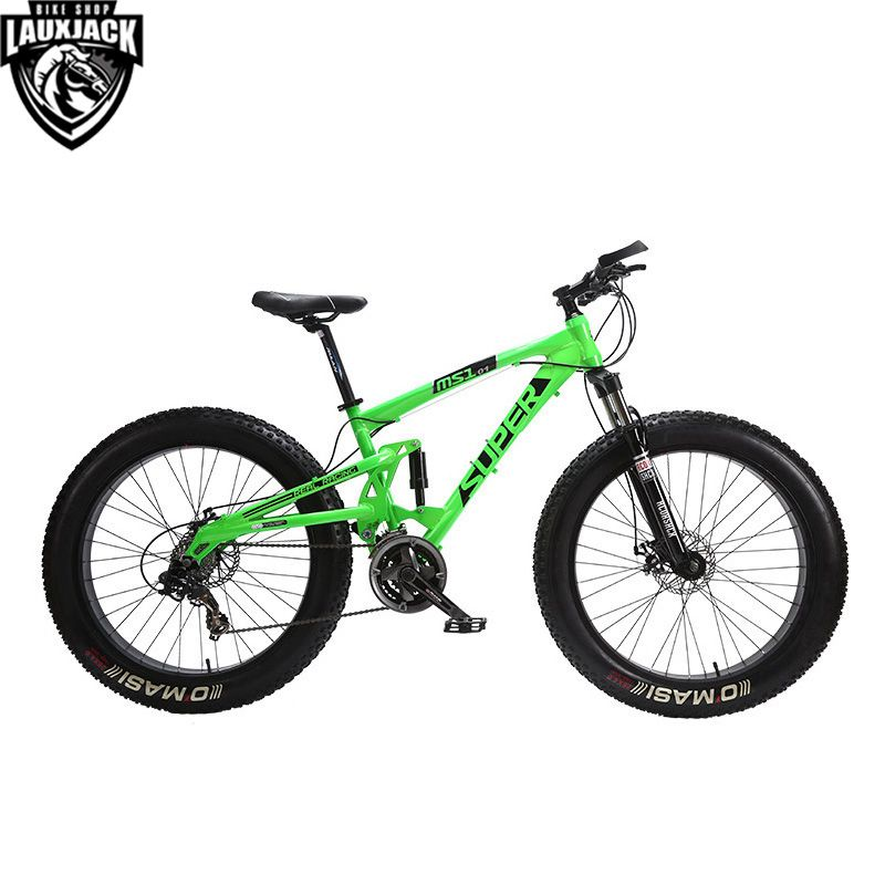 SUPER Mountain Fat Bike Full Suspension Alluminium Frame 24 Speed Shimano Mechanic Brake 26