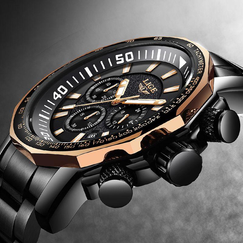 Relogio Masculino 2018 Neue LIGE Mode Marke Herren Uhren Voller Stahl Business Quarz Uhr Military Sport Wasserdichte Uhr Männer