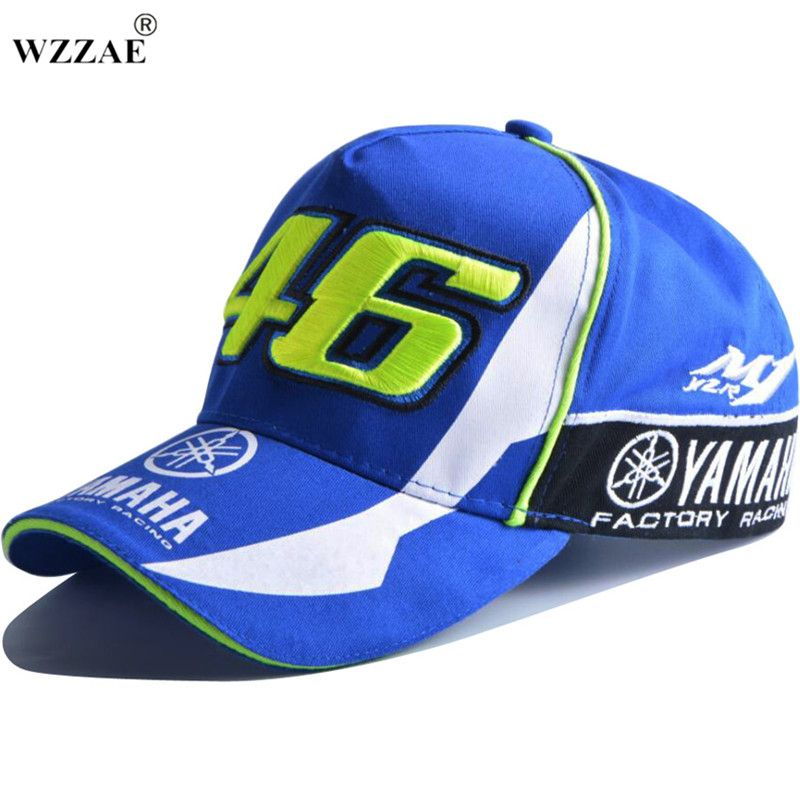 2017 alta calidad Moto GP 46 motocicleta 3D bordado F1 Racing Cap hombres mujeres SnapBack gorras Rossi VR46 gorra de béisbol yamaha sombreros