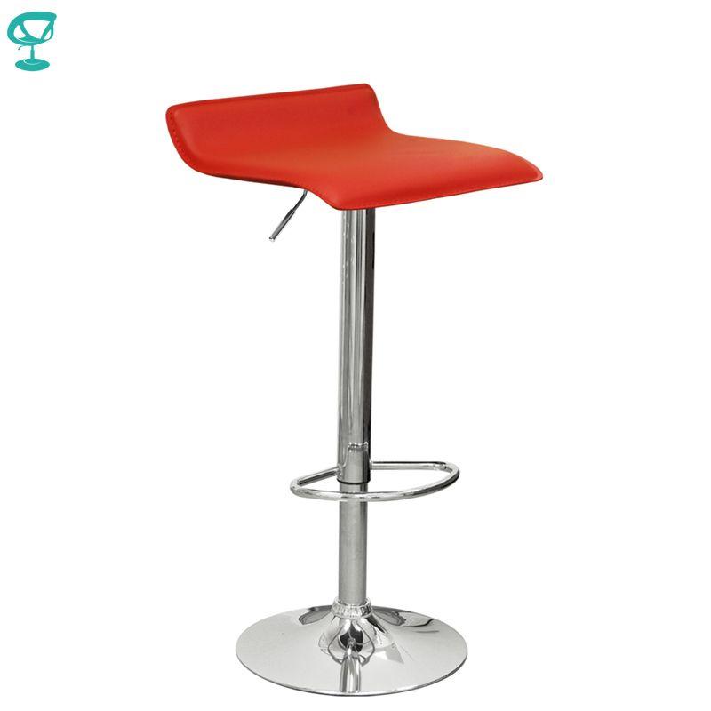 94527 Barneo N-38 Leder Küche Frühstück Barhocker Swivel Bar Stuhl rot kostenloser versand in Russland