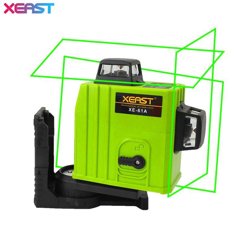 XEAST XE-61A 12 line Green laser level 360 Self-leveling Cross Line 3D Laser Level Green Beam With Tilt&Outdoor Mode
