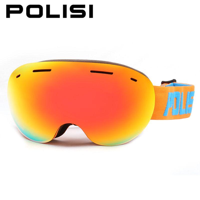 Polisi männer frauen skibrillen big spheral doppelschicht objektiv snowboard schnee gläser anti-fog uv400 snowmobile schutzbrillen