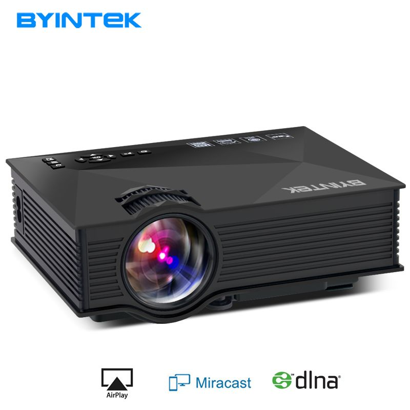 BYINTEK BT460 WIFI Home Theater Mobile HDMI USB LCD Pico Video Portable Mini Game LED Projector Proyector For Iphone Android