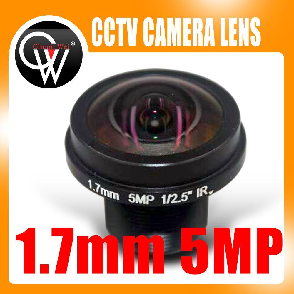Nouvel objectif grand angle fisheye panoramique 360 degrés HD 5MP M12 objectif caméra 1.7mm objectif panoramique FPV caméra HD
