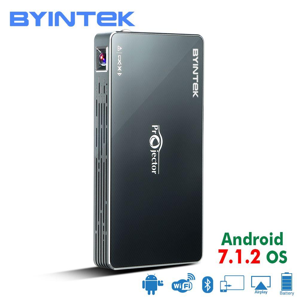 BYINTEK UFO MD322 Portable Smart Home Cinéma de Poche Android 7.1.2 OS Wifi Mini HD LED Projecteur Pour Plein HD1080P MAX 4 k HDMI