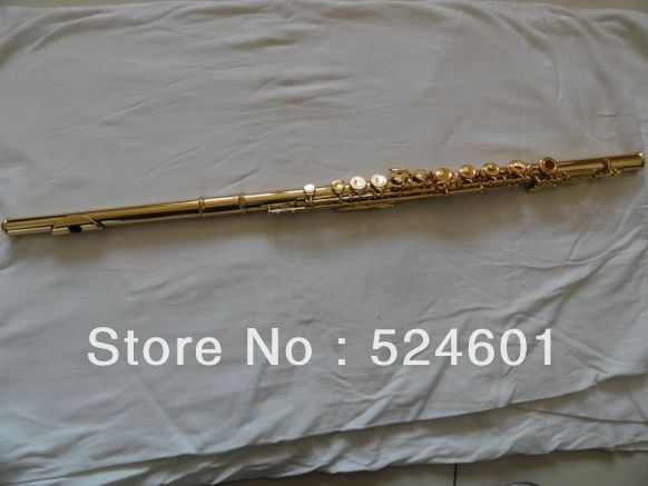 wholesale Inventory 16 holes plus the E key, gold plated flute musical instruments