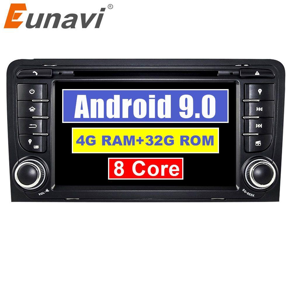 Eunavi 7 Octa 8 Core 4G RAM Android 9.0 Auto DVD-Radio-Player für Audi A3/S3 (2003-2013) stereo mit TPMS/OBD2/4G/DAB +/GPS/WIFI