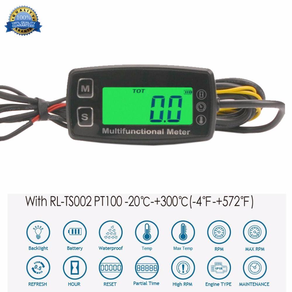 Compteur d'heure numérique compteur de température théomomètre pour moteur à gaz moto Marine Jet Ski Buggy tracteur Pit Bike paramoteur