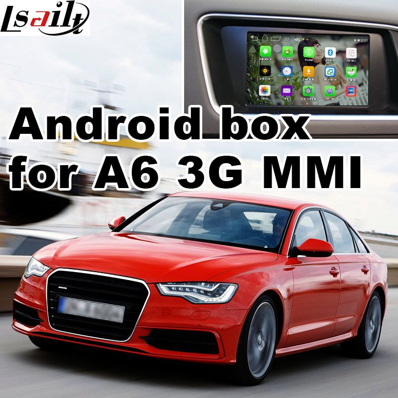 Android 6.0 GPS navigation box for Audi A6 A7 3G MMI system video interface box mirror link youtube facebook HD video play