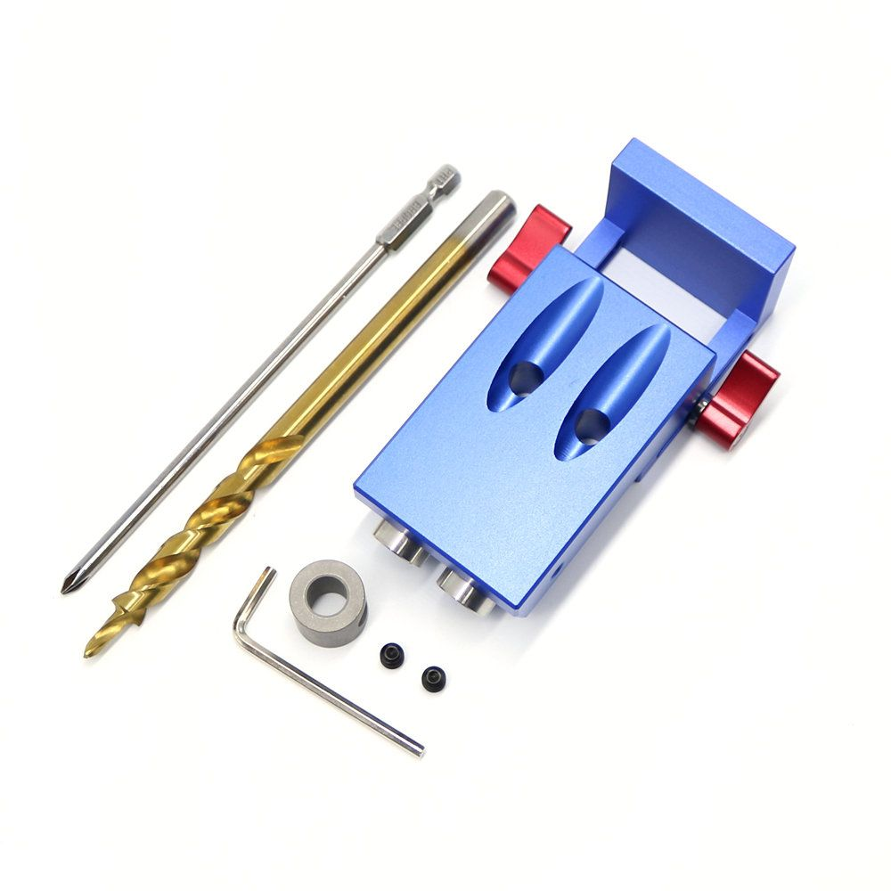 2018 New Mini Kreg Style Pocket Hole Jig Kit System For Wood Working & Joinery + Step Drill Bit & Accessories Wood Work Tool Set