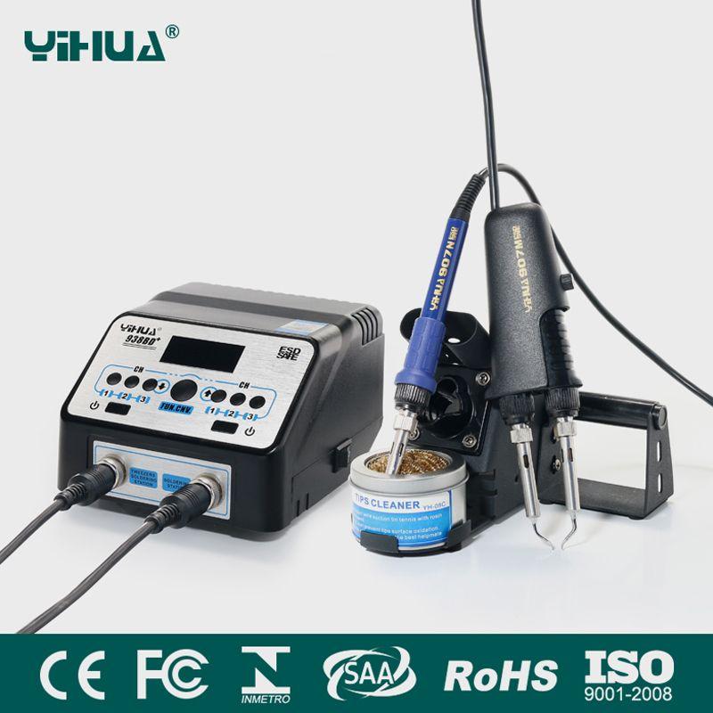 YIHUA 938BD + SMD À Souder Brucelles Réparation Station de Reprise Électrique pinces de chauffage à température Constante chauffage matériel de soudure