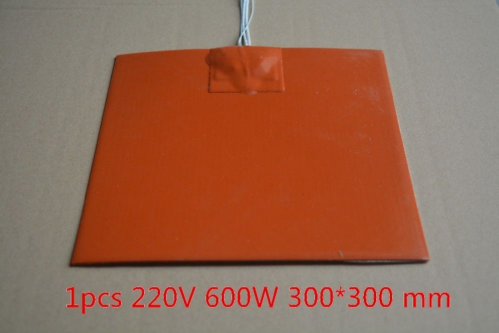 Silicone heating pad heater 300mmx300mm for 3d printer heat bed 1pcs