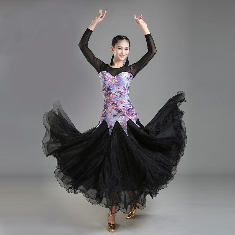 2018 New ballroom dance dresses standard ballroom waltz dresses ballroom dance competition dresses