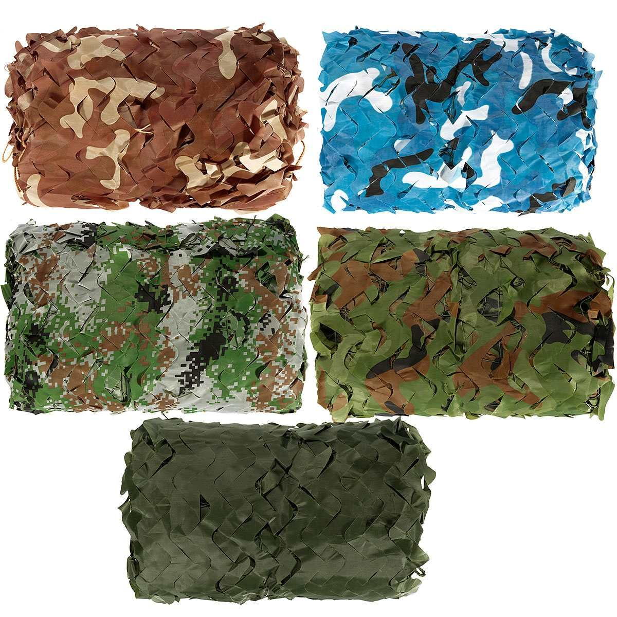 5x3m Outdoor Military Camouflage Net Camo for Hunting Covering Camping Woodlands Leaves Hide Sun Shelter Car-cover