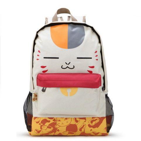 Girl Laptop Backpack Cute Face Print Pu Schoolbag Beige New Cat Backpack Women Student Bag School Bag <font><b>Leisure</b></font> Cartoon Book Bag