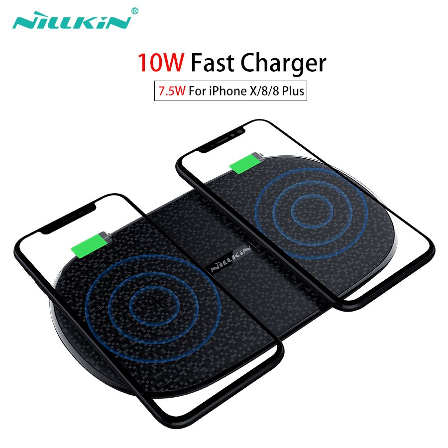 Fast Wireless Charger 10w 7.5w Nillkin 2 in 1 Qi Wireless Charging Pad for iPhone XS Max/XS/X/8/8 Plus For Samsung S9/Note 8/S8