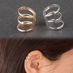 EY593 европейский и американский стиль ретро полые П-образный уха клип кости серьги Невидимый не надо прокалывать уши ухо клип 1 шт.