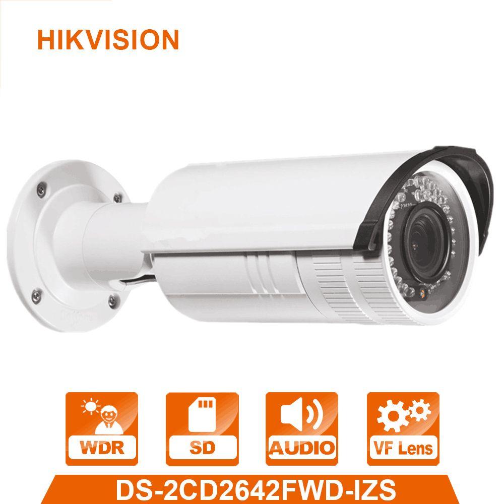 English Version 4MP IP Camera DS-2CD2642FWD-IZS WDR Bullet Network IP CCTV Camera Vari-focal Motorized Lens POE