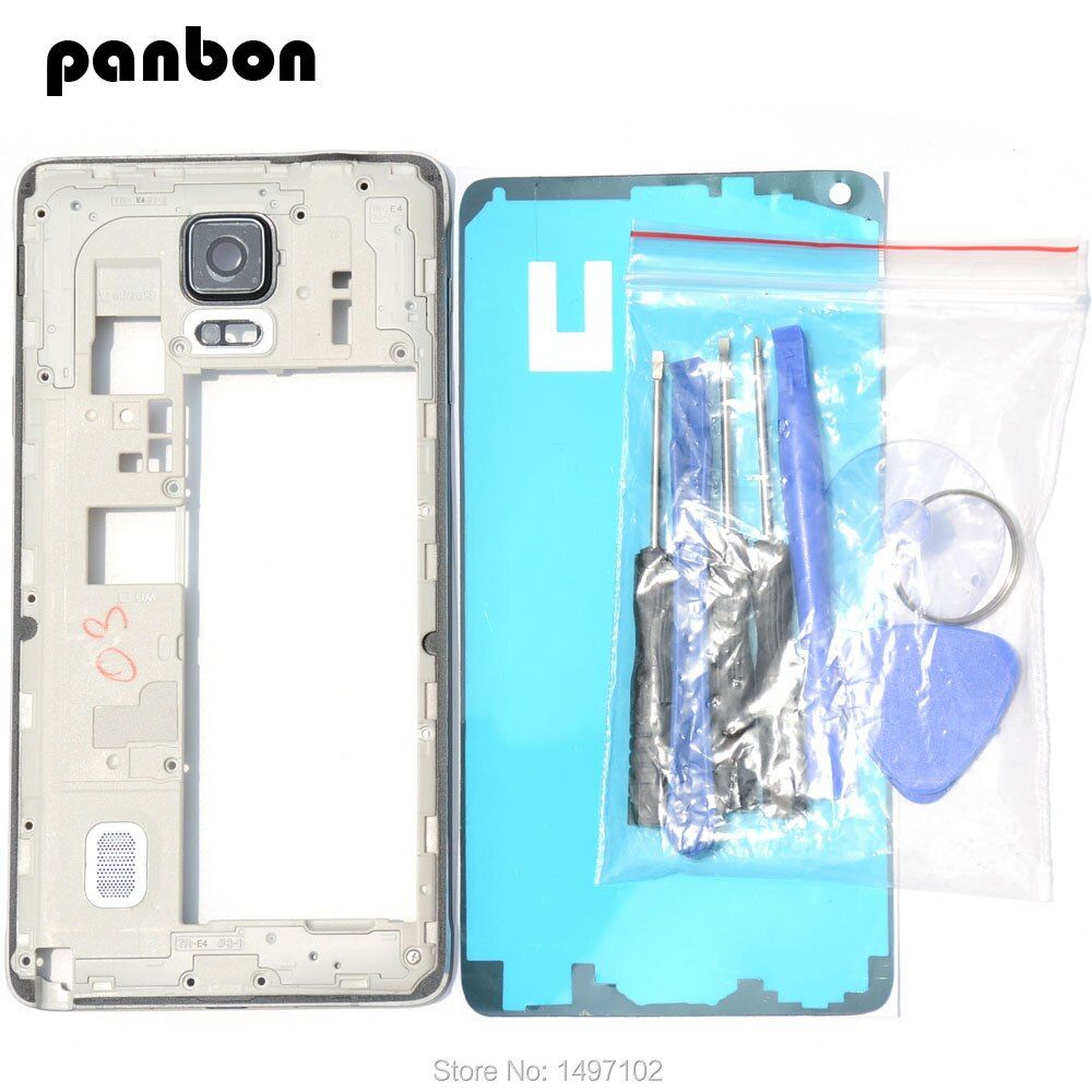 Housing Case replacement Parts For Samsung Galaxy Note 4 N910F/G/C/A Middle frame Plate bezel Mid Chassis Backplate with tools