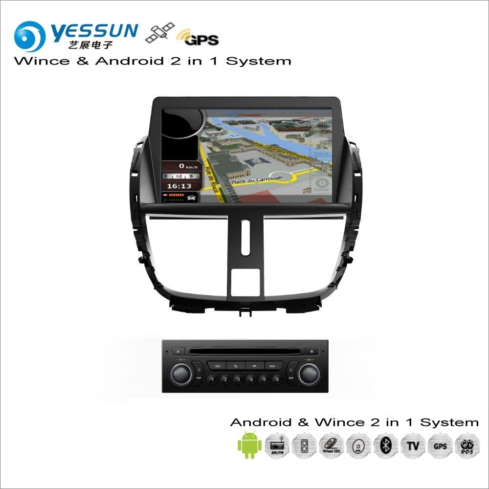 YESSUN For Peugeot 207 / 206+ 2009~2013 - Car Android Multimedia Radio CD DVD Player GPS Navi Map Navigation Audio Video Stereo