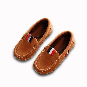 New Spring Boys Children Shoes Kids Boys PU Leather Shoes Kids Moccasin Loafers Toddlers Casual Single Flats Sneakers C301