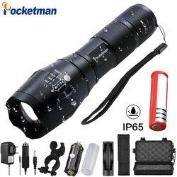 Pocketman 12000 люменов Мощность 5 Режим XM-L T6 L2 V6 светодиодный фонарь с приближением, перезаряжаемые Фокус факел 1*18650 или 3 * AAA z92