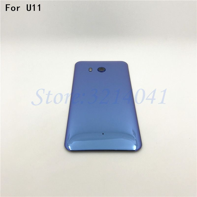 Original5.5 inches Battery Cover With Camera Lens Glass Door Back Housing Case For HTC U11 U-3w W-1w Back Cover With Logo