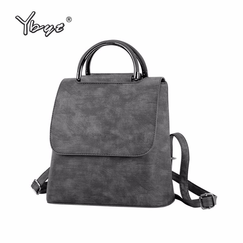 YBYT brand 2018 new PU leather women <font><b>rucksack</b></font> Multipurpose satchel female shopping shoulder bags ladies casual travel backpacks