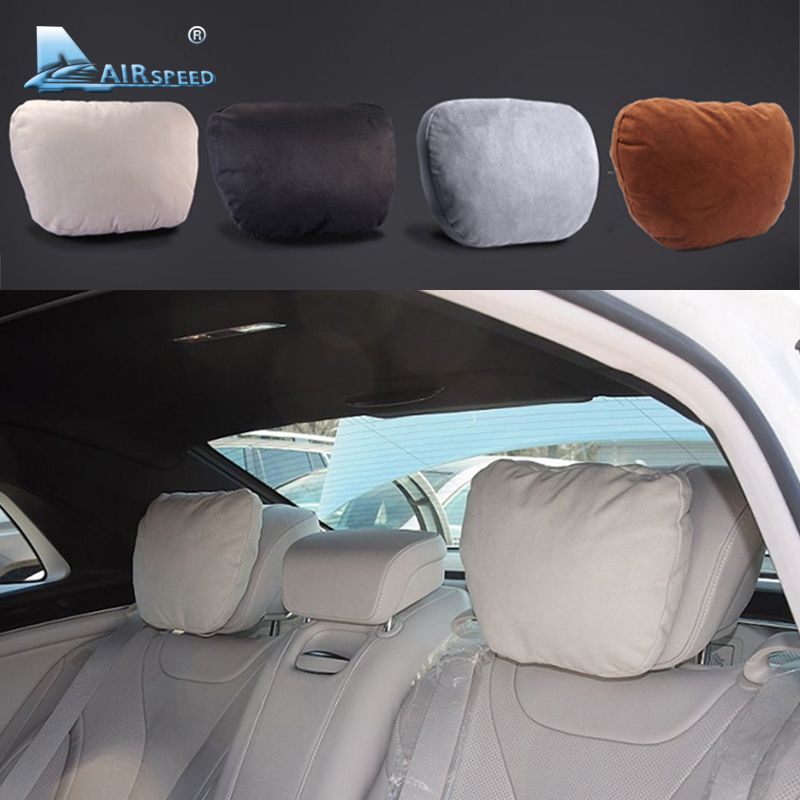 Airspeed <font><b>2pcs</b></font> Maybach Design S Class Car Headrest Neck Supports Pillows Seat Cushion for Mercedes Benz W204 W203 W211 W210 W212