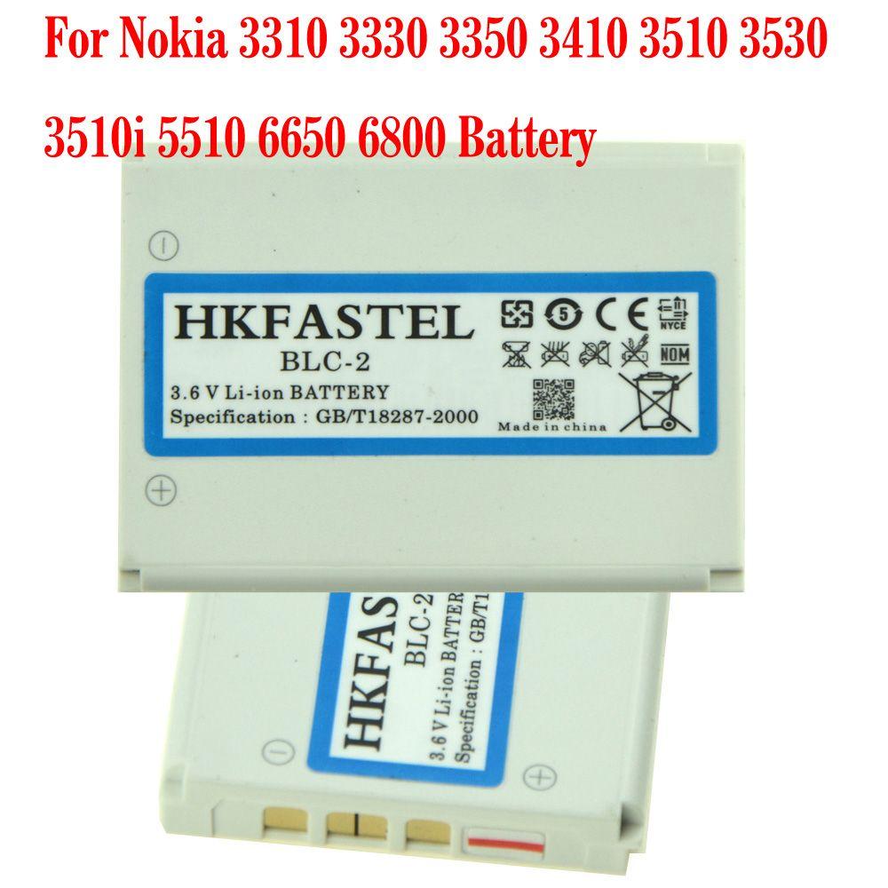 HKFASTEL Neue BLC-2 BLC2 Li-Ion Handy Akku Für Nokia 3310 3330 3350 3410 3510 3530 3510i 5510 6650 6800 batterien