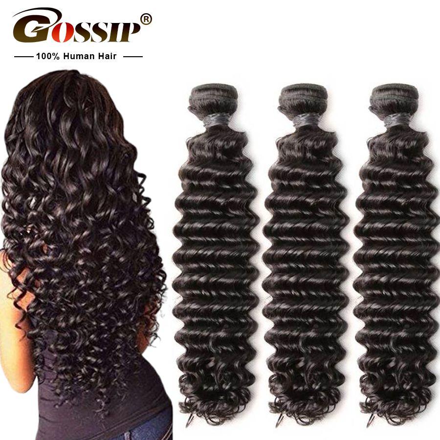 Paquets de vague profonde de ragots paquets brésiliens d'armure de cheveux 100% tissages de cheveux humains Remy Extension de cheveux 28 30 pouces paquets peuvent être teints
