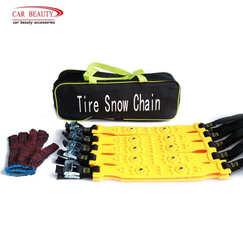 10Pcs/Set TPU Tire Snow Chains for Winter with Storage Bag and Installation Gloves Winter Tyres Wheel  Autocross Outdoor