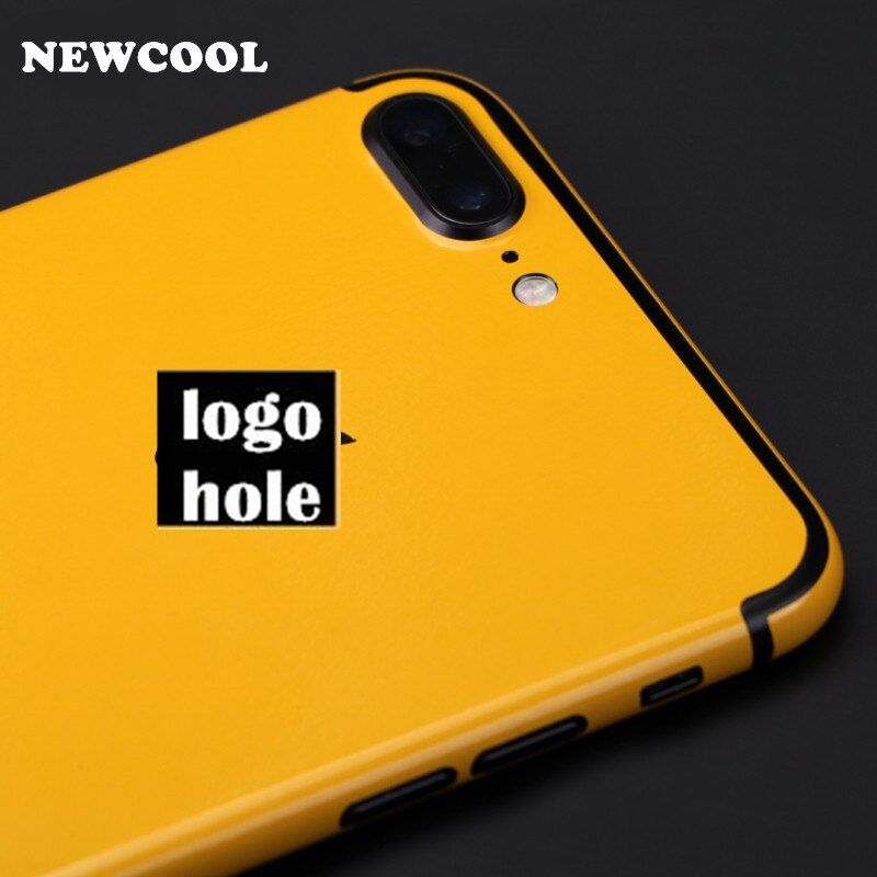 For iphone7 plus Yellow back film 3 parts Protective cover stickers for iPhone 7 7 plus Color back film Paster Decorative film