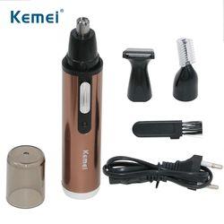 Kemei Мода Электрический бритья волос в носу триммер безопасный Уход за лицом бритья Триммер для носа тример