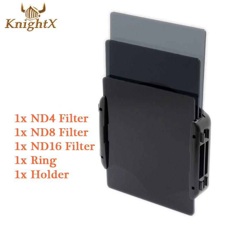 KnightX 49 52 55 58 67 77mm objectif caméra nd Kit de filtre couleur Cokin série P anneau adaptateur support pour Canon EOS 1100D 60D 70D 600D