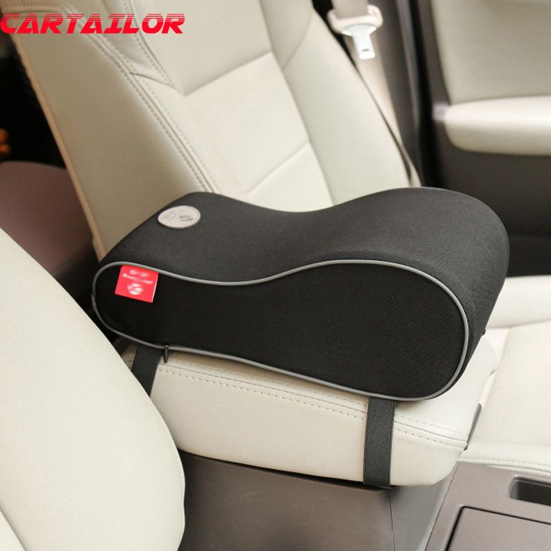 CARTAILOR Polyester Car Seat Supports Universal Vehicle Auto Center Console Arm Rest Cushion Memory Foam Armrests Covers Support
