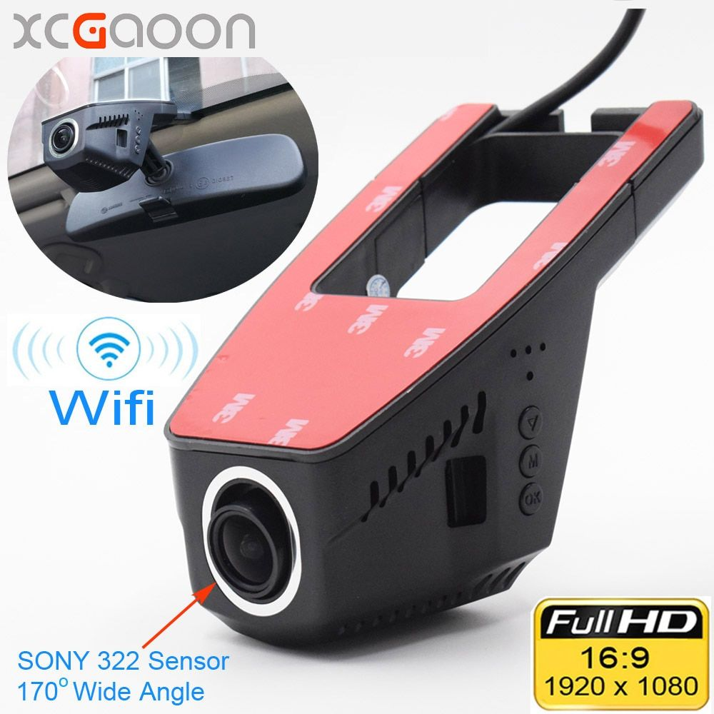 XCGaoon Wifi Car DVR Registrator Digital Video Recorder <font><b>Camcorder</b></font> Dash Camera 1080P Night Version Novatek 96655, Cam Can Rotate