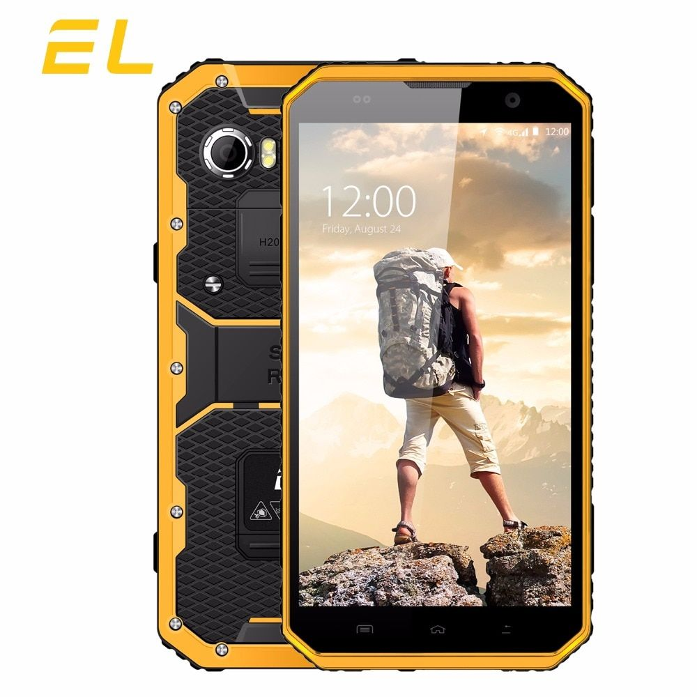 EL W9 IP68 Mobile Phone Android 6.0 Inch FHD MTK6753 Octa Core 2GB+16GB Phones Dual Sim Touch Unlocked Waterproof Smartphone 4G