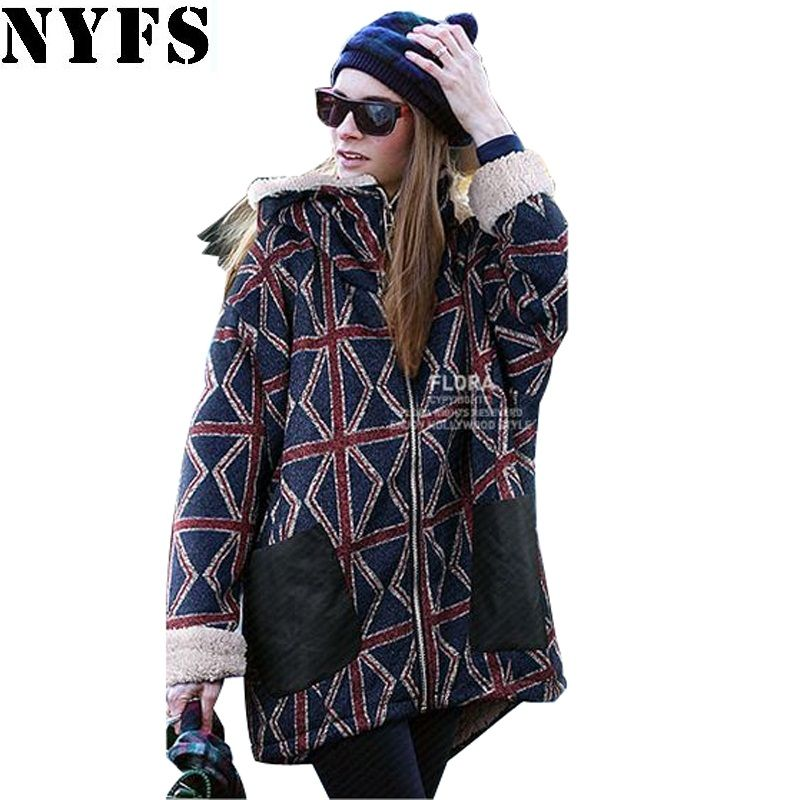 NYFS 2018 Autumn Winter Women Coats And Jackets Woman Warm musim dingin parka Hooded Coat Plus Size M-5XL Oversized Basic Jacket
