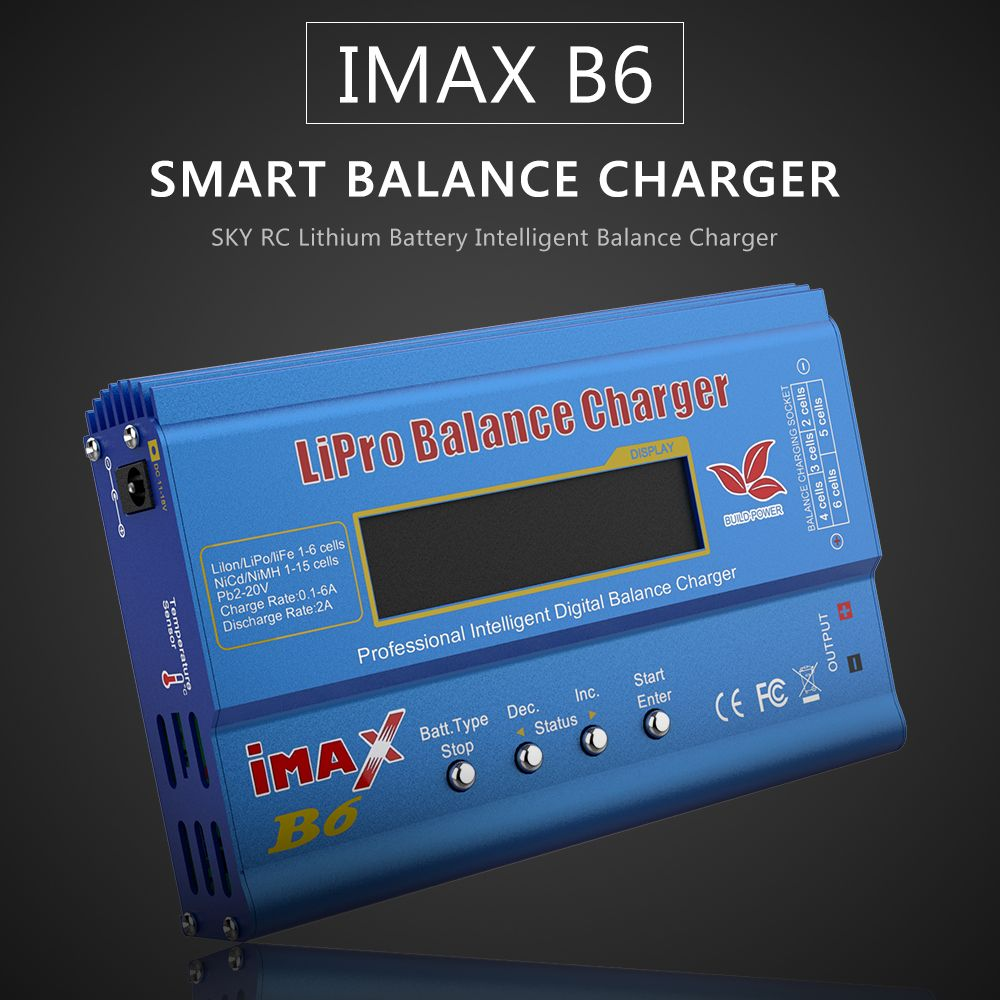 Newest Build-Power 80W iMAX B6 Lipro NiMh Li-ion Ni-Cd RC lithium Battery Balance Digital Charger Discharger