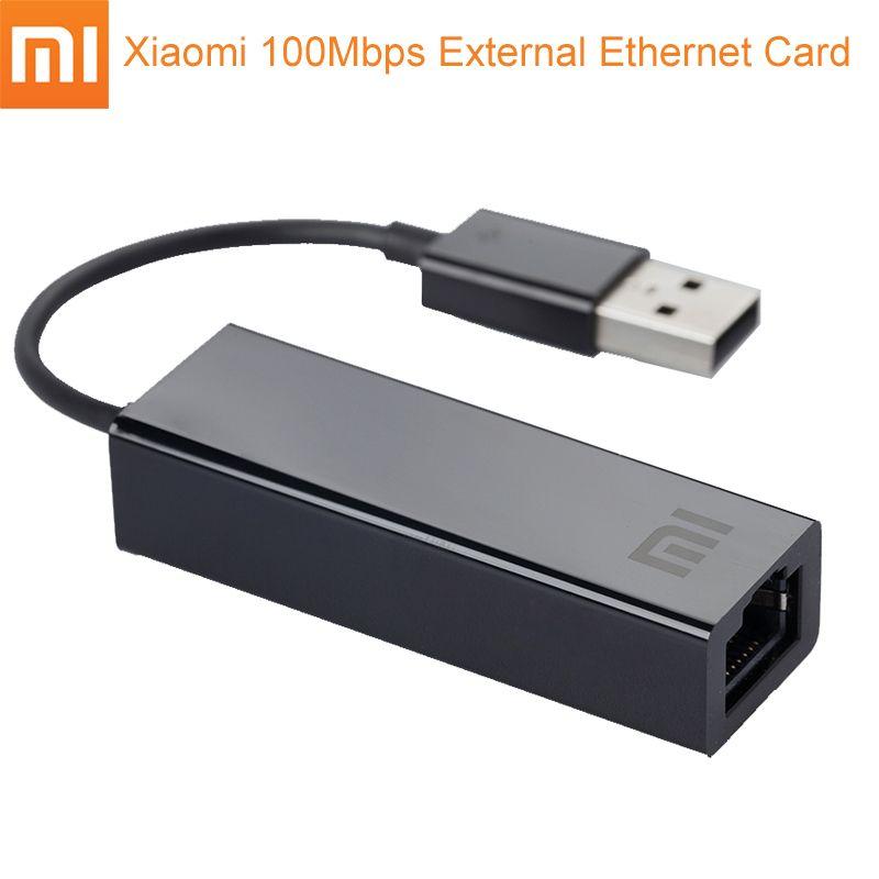 D'origine Xiaomi USB Externe Rapide Ethernet Carte Mi USB2.0 À Ethernet Câble LAN Adaptateur 10/100 Mbps Réseau Cartes pour Ordinateur Portable