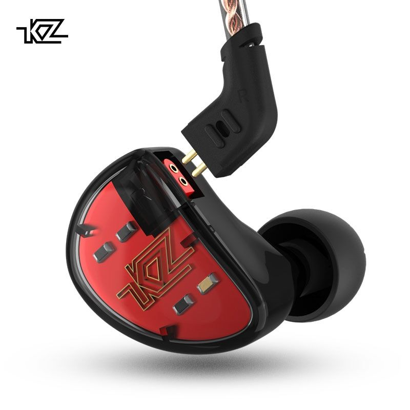 KZ AS10 5BA+5BA Noise Cancelling Sports Dynamic Hybrid 5 Balanced Armature Driver Monitor Earphone for Phones and Music