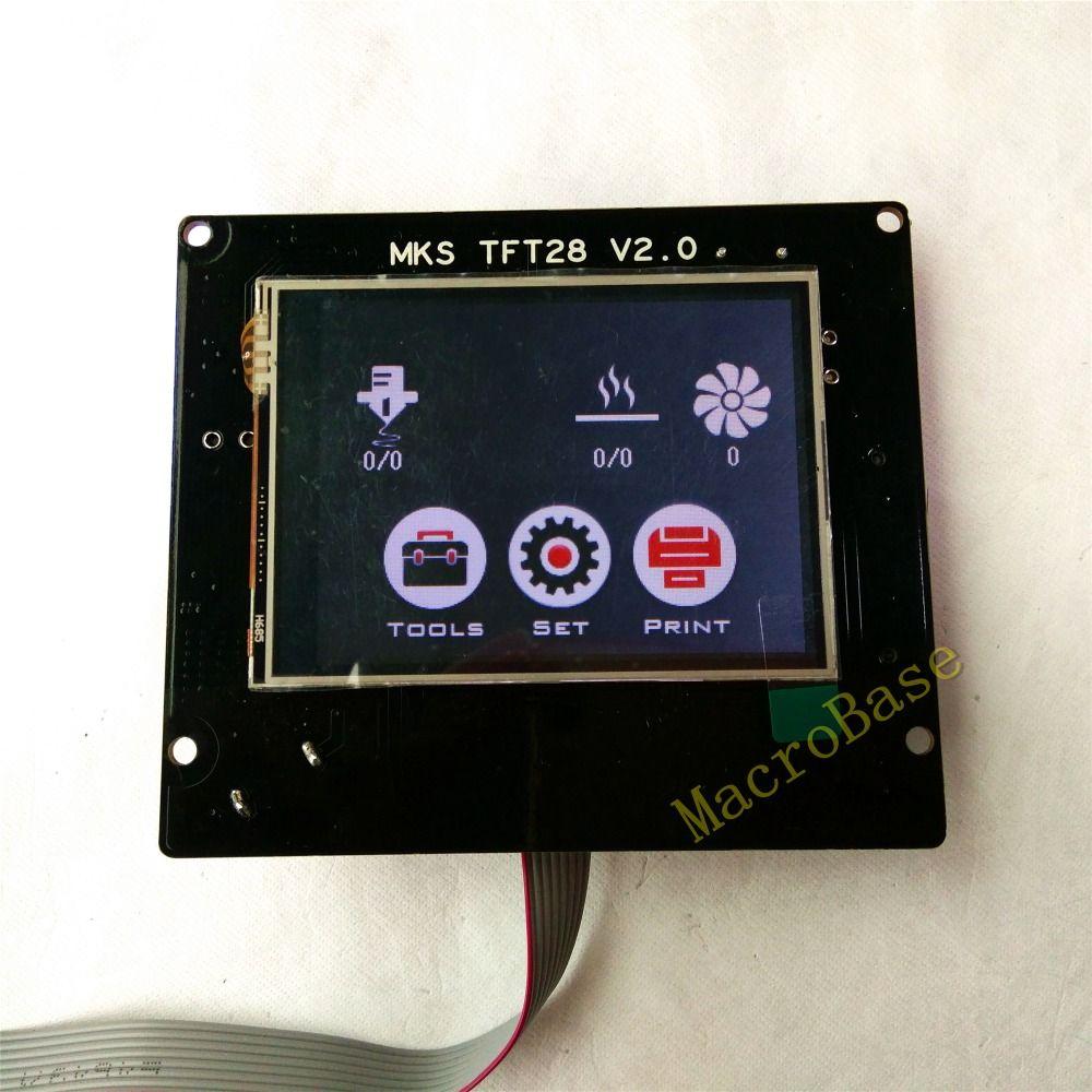 3d impression éléments MKS TFT28 V3.0 écran tactile RepRap contrôleur panneau coloré affichage SainSmart splash écran led Moniteur