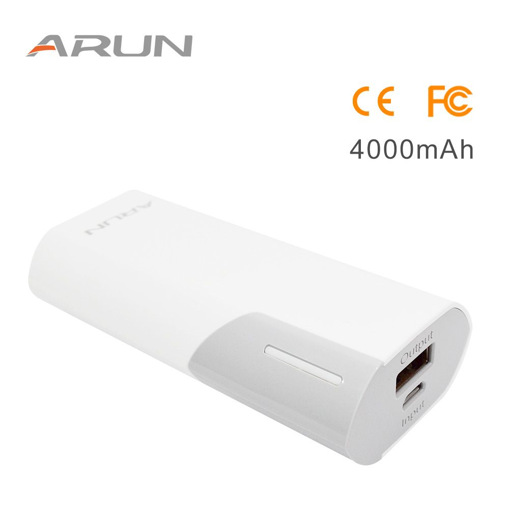 ARUN 4000mah Emergency Power Supply External Battery Charging Station High-speed Charging Power Bank For Phone 7 Xiaomi Mi5 Red