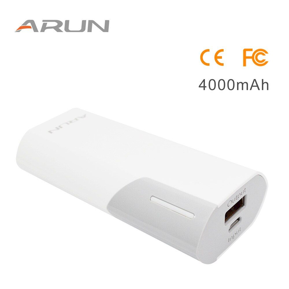 ARUN <font><b>4000mah</b></font> Emergency Power Supply External Battery Charging Station High-speed Charging Power Bank For Phone 7 Xiaomi Mi5 Red