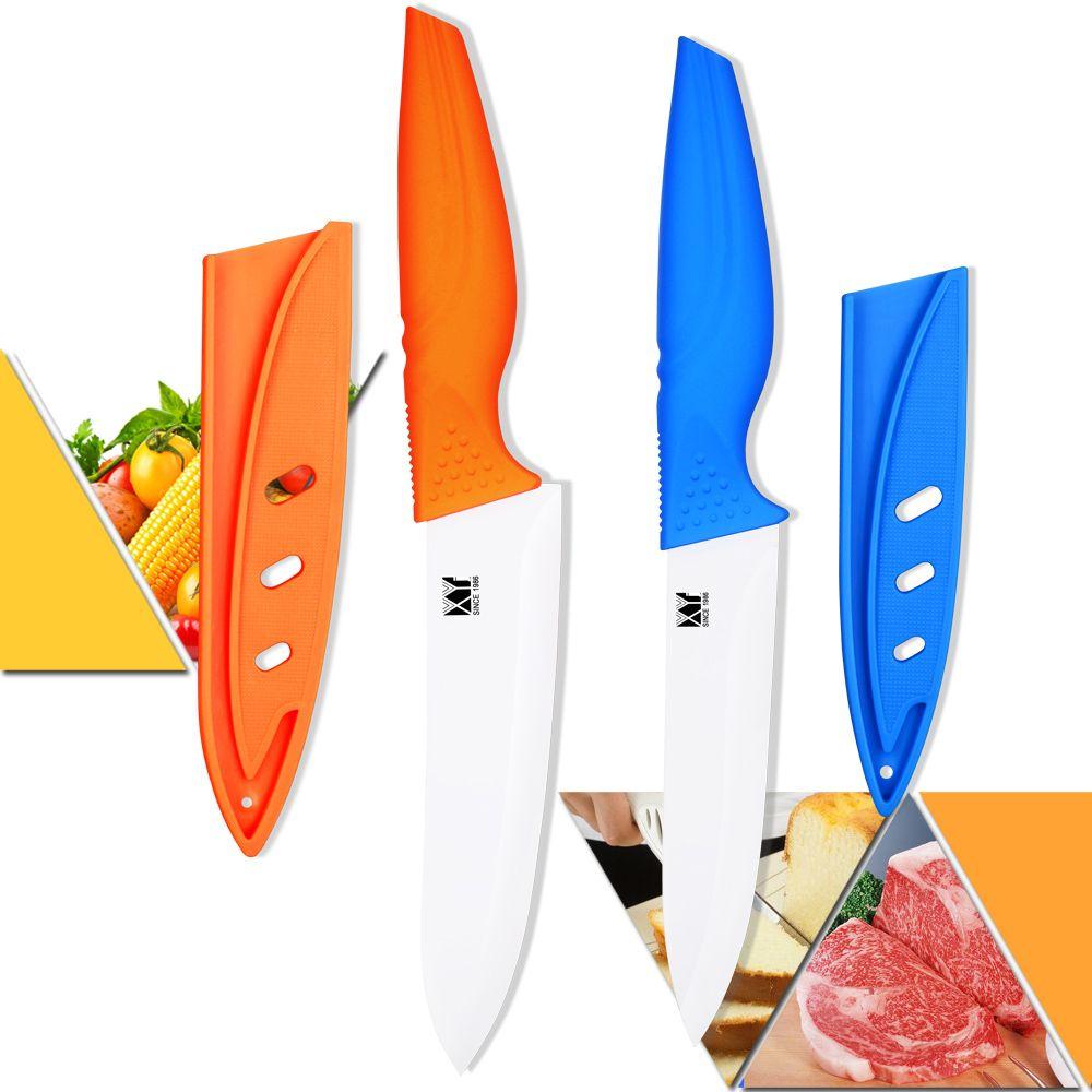 Couteaux en céramique de marque XYJ 5 pouces tranchage 6 pouces couteaux de cuisine Chef couteaux de cuisine en céramique faits à la main cuisine Excellent présent